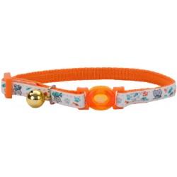 Coastal Pet Safe Cat Glow in the Dark Adjustable Collar Orange Image