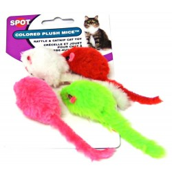 Spot Colored Plush Mice - Assorted Colors Image