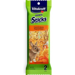 Vitakraft Rabbit Crunch Sticks Carrot & Honey Flavored Glaze Image