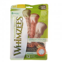 Whimzees Brushzees Dental Treats - Medium Image
