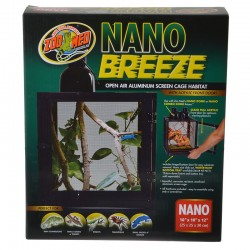 Zoo Med Nano Breeze Aluminum Screen Cage Habitat Image