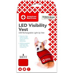 Penn-Plax American Red Cross Light Up Safety Visibility Vest Image