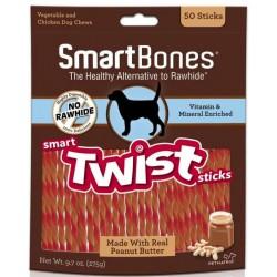 SmartBones Vegetable, Chicken and Peanut Butter Smart Twist Sticks Rawhide Free Dog Chew Image