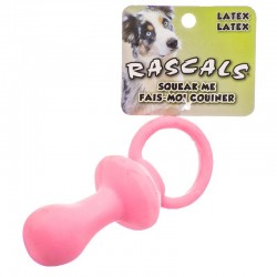 Rascals Latex Pacifier Dog Toy - Pink Image