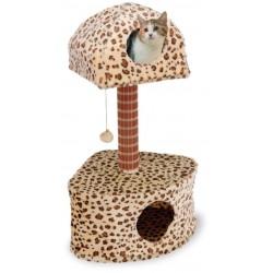 Penn Plax Cat Life Leopard Print Lounge & Activity Center Image
