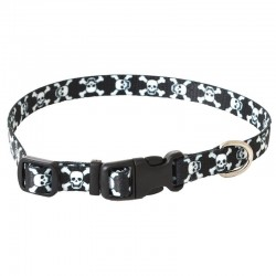 Pet Attire Styles Adjustable Dog Collar - Skulls Image