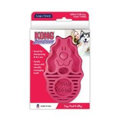 Kong Zoom Groom Brush for Dogs - Raspberry Image