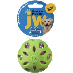 JW Pet Crackle Heads Rubber Ball Dog Toy Medium Image