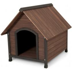 Aspen Pet Ruff Hauz Peak Roof Wooden Dog House Image