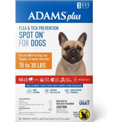 Adams Flea And Tick Prevention Spot On For Dogs 15-30 lbs Medium 3 Month Supply  Image