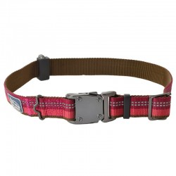 K9 Explorer Reflective Adjustable Dog Collar - Berry Red Image