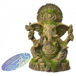 Exotic Environments Ganesha Statue with Moss Ornament Image