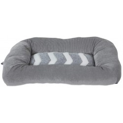 Precision Pet Snoozz ZigZag Mat Pet Bed Gray And White  Image