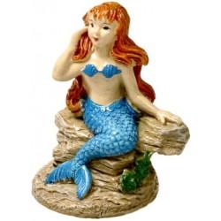 Blue Ribbon Exotic Environments Poised Mermaid Aquarium Ornament Image