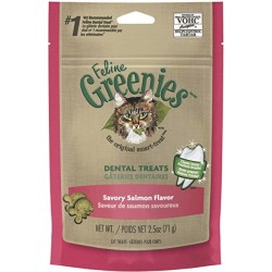 Greenies Feline Dental Treats - Savory Salmon Flavor Image