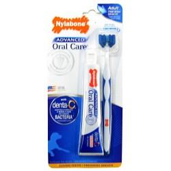 Nylabone Advanced Oral Care Triple Action Adult Dog Dental Kit Image