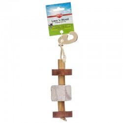 Kaytee Lava 'N Wood Hanging Chew Toy Image