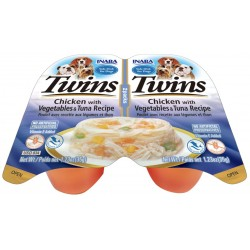 Inaba Twins Chicken with Vegetables and Tuna Recipe Side Dish for Dogs Image