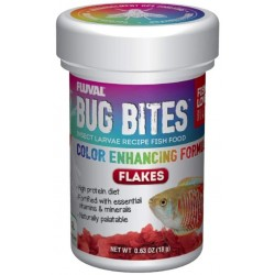 Fluval Bug Bites Insect Larvae Color Enhancing Fish Flake Image