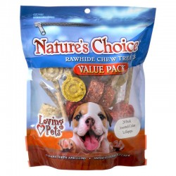 Loving Pets Nature's Choice Natural Rawhide Munchy Lollipops Image