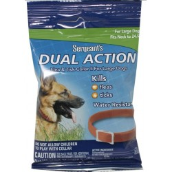 Sergeants Dual Action Flea and Tick Collar II for Large Dogs Neck Size 24.5