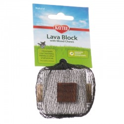 Kaytee Lava Block with Wood Chews for Small Pets Image