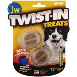 JW Pet Twist-In Treats Chicken Flavored Treat Dispensing Dog Toy  Image
