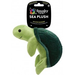 Spunky Pup Sea Plush Turtle Dog Toy Image