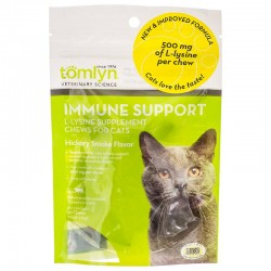 Tomlyn Immune Support L-Lysine Chews for Cats - Hickory Smoke Flavor Image