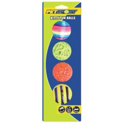 Petsport Kitty Fun Balls - (Assorted Colors) Image