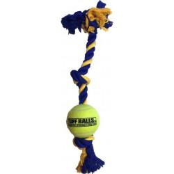 Petsport Mini 3-Knot Cotton Rope with Tuff Ball Image