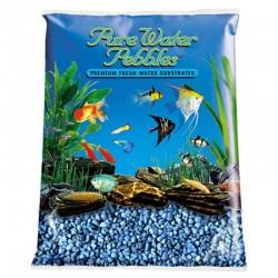 Pure Water Pebbles Aquarium Gravel - Neon Blue Image
