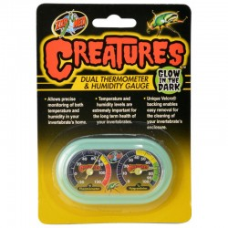 Zoo Med Creatures Dual Thermometer and Humidity Gauge Image