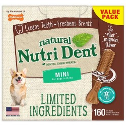 Nylabone Nutri Dent Natural Filet Mignon Dental Chew Treats Mini Image