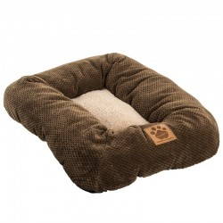 Precision Pet Snoozzy Natural Surroundings Low Bumper Pet Bed - Coffee Image