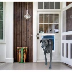 Ideal Pet Products Deluxe White Aluminum Pet Door Super Large  Image