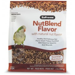 ZuPreem NutBlend with Natural Nut Flavors Pellet Birds Food for Medium Bird (Cockatiel and Lovebird) Image