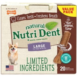 Nylabone TFH Nutri Dent Filet Mignon Flavor Dog Chews for Large Dogs Image