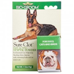 Bio Groom Sure Clot Styptic Powder for Dogs, Cats & Birds Image