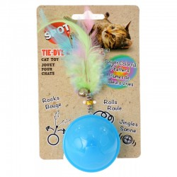 Spot Tie Dye Roller Ball Cat Toy - Assorted Colors Image