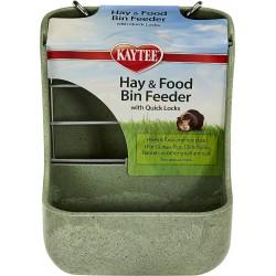Kaytee Hay & Food Bin with Quick Locks Small Animal Feeder Image