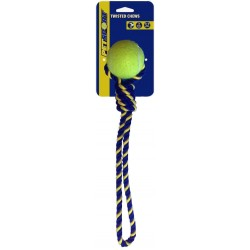 Petsport Knotted Cotton Rope Tug with Tuff Ball Image