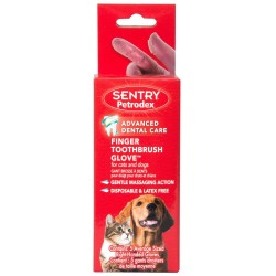 Sentry Petrodex Finger Toothbrush Glove for Cats and Dogs Image