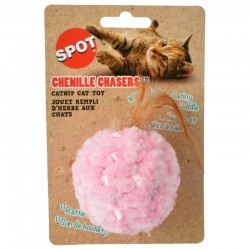 Spot Chenille Chasers Feather Ball Catnip Toy - Assorted Colors Image