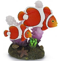 Penn Plax Clown Fish and Coral Aquarium Ornament Image