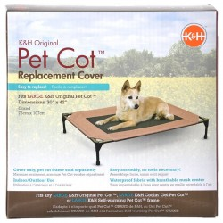 K&H Pet Cot Replacement Cover Chocolate Brown Image
