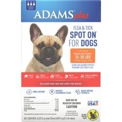 Adams Plus Flea and Tick Spot On for Medium Dogs 15-30 lbs Image