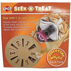 Spot Seek-A-Treat Discovery Wheel Interactive Dog Treat and Toy Puzzle Image