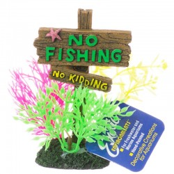 Exotic Environments No Fishing No Kidding Sign Image