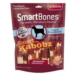 SmartBones Smart Kabobz Triple Meat Rawhide Free Dog Chew Image